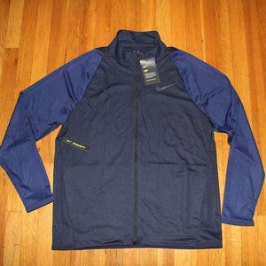 NEW Nike Dri-Fit Knit Training Jacket Men's L Navy